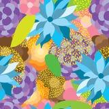 Картина ткани цветка красочная безшовная иллюстрация вектора