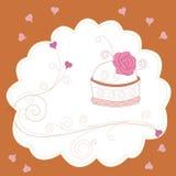 картина торта рождения иллюстрация штока