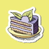 Картина торта шаржа Стоковое фото RF