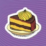 Картина торта шаржа Стоковые Изображения RF
