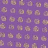 Картина торта шаржа Стоковое Фото
