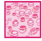 Картина тортов с розовой сливк Стоковые Изображения
