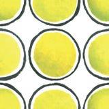 Картина точки польки акварели краски руки безшовная Стоковые Фотографии RF