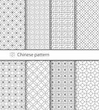 Картина традиционного китайския безшовная для вашего дизайна вектор Справочная информация Стоковая Фотография RF