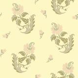 Картина традиционного китайския флористическая безшовная для вашего дизайна Справочная информация вектор Стоковые Изображения RF