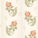 Картина традиционного китайския флористическая безшовная для вашего дизайна Справочная информация вектор Стоковое Изображение