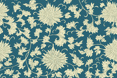 Картина традиционного китайския флористическая безшовная для вашего дизайна Справочная информация вектор Стоковая Фотография RF