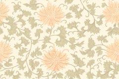 Картина традиционного китайския флористическая безшовная для вашего дизайна Современная картина дизайна ткани Справочная информац Стоковое Изображение RF