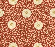 Картина традиционного китайския флористическая безшовная для вашего дизайна Современная картина дизайна ткани Справочная информац Стоковые Изображения