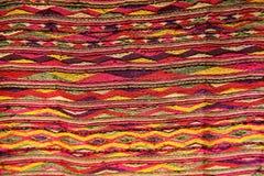 Картина традиционных сплетенных тканей Стоковое Фото