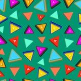 Картина треугольника случайная безшовная с больше стиль Стоковые Изображения