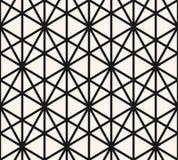 Картина треугольников безшовная Текстура конспекта вектора черно-белая геометрическая бесплатная иллюстрация