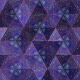Картина треугольников геометрических форм в ультрафиолетов цветах Предпосылка мозаики Стоковая Фотография