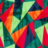 Картина треугольника Grunge безшовная с влиянием шарика Стоковое фото RF