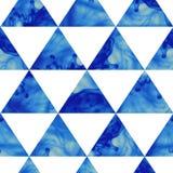 Картина треугольников чернил безшовная. Картина современного битника безшовная. Стоковое Изображение RF