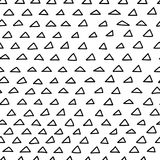 Картина треугольников Doodle безшовная Стоковое Изображение