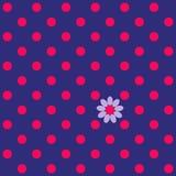 картина Три-цвета безшовная с точкой и цветком польки иллюстрация штока