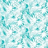 Картина тропических листьев безшовная Стоковая Фотография RF