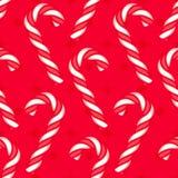 Картина тросточки конфеты безшовная Стоковые Фотографии RF