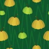 Картина тыквы безшовная на зеленой предпосылке иллюстрация штока