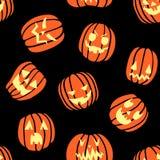 Картина тыквы хеллоуина страшная Стоковое фото RF