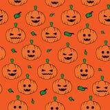 Картина тыквы Halloween безшовная бесплатная иллюстрация