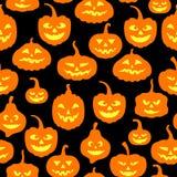 Картина тыкв хеллоуина безшовная иллюстрация вектора