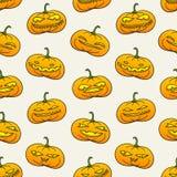 Картина тыкв хеллоуина Стоковая Фотография