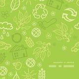 Картина угла рамки вектора экологическая Стоковое Изображение