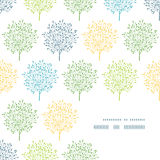 Картина угла рамки деревьев лета красочная Стоковое фото RF