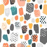 Картина ультрамодных scribbles безшовная в пастельных цветах бесплатная иллюстрация