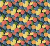 Картина установленная плодоовощами Стиль Catroon Стоковое фото RF