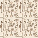 Картина фабрики кофе безшовная Стоковая Фотография RF