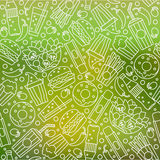 Картина фаст-фуда безшовная Стоковое фото RF