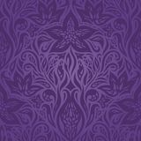 Картина фиолетовых пурпурных цветков богато украшенная винтажная безшовная иллюстрация штока