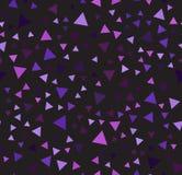 Картина фиолетового треугольника хаотическая вектор предпосылки безшовный Стоковые Фотографии RF