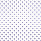Картина фиолетовых сердец, иллюстрация акварели безшовная на белой предпосылке Стоковые Изображения