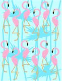 картина фламингоа Иллюстрация штока