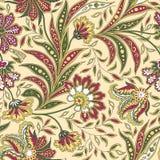Картина флористических лист и цветка безшовная Абстрактная восточная флористическая предпосылка Стоковая Фотография
