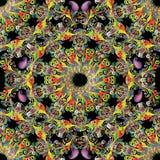 Картина флористического красочного вектора Пейсли безшовная Стоковое Фото