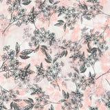 Картина флористической весны плана безшовная Vector состав для романтичных предпосылок, обои, крышки, крася страницы Стоковые Фото
