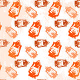 Картина фонарика керосина безшовная Стоковое фото RF
