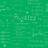 Картина формул физики безшовная Стоковые Фото