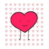 Картина форм сердец влюбленности Стоковое фото RF
