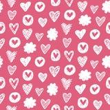 Картина форм сердец романтичная безшовная Стоковое Изображение