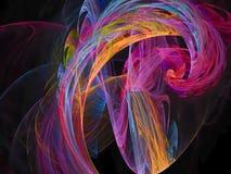 Картина фрактали абстрактной живой текстуры дизайна влияния цифрового верхнего слоя глубокой футуристическая иллюстрация вектора