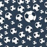 картина футбола безшовная Стоковое Изображение RF
