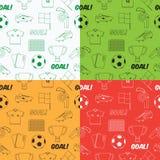 Картина футбола безшовная иллюстрация штока