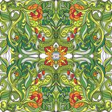 Картина флористического вектора весны безшовная бесплатная иллюстрация