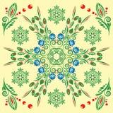 картина флористического орнамента безшовная Стоковые Фото